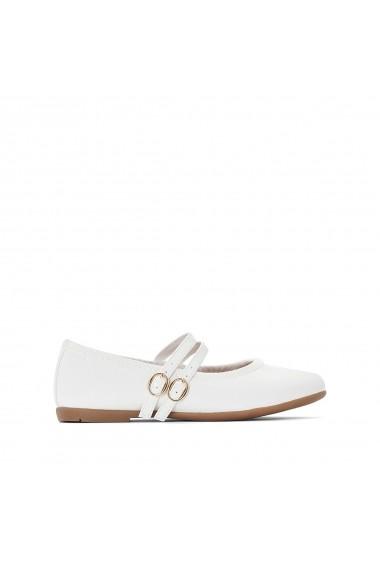 Pantofi cu toc La Redoute Collections GEY592 alb - els