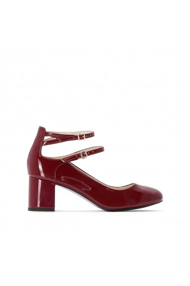Pantofi cu toc La Redoute Collections GCO139 Bordo