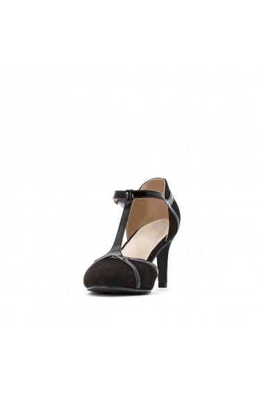 Pantofi cu toc La Redoute Collections GGP337 negru