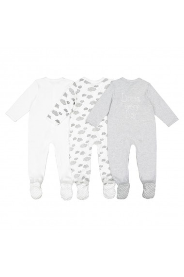 Set 3 pijamale La Redoute Collections GFK180 alb