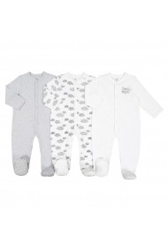 Set 3 pijamale La Redoute Collections GFK180 alb