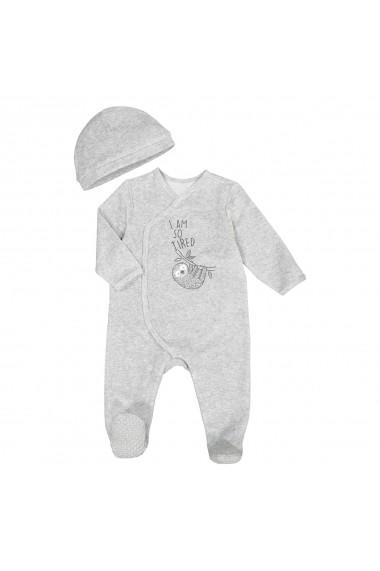 Set pijama si caciula La Redoute Collections GFK181 gri