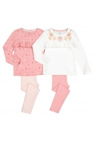 Set 2 pijamale La Redoute Collections GGE822 roz - els