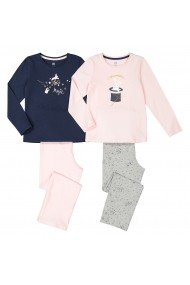 Set 2 pijamale La Redoute Collections GGE823 multicolor