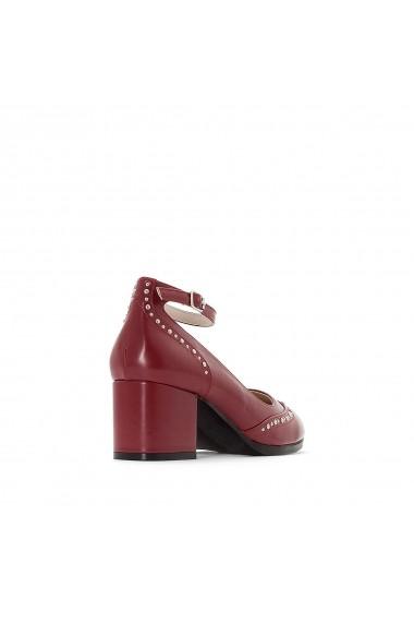 Pantofi cu toc La Redoute Collections GER013 bordo - els