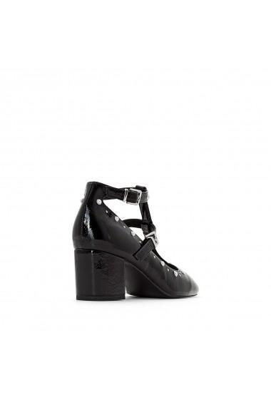 Pantofi cu toc La Redoute Collections GET355 negru