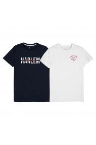 Set 2 tricouri, 10-16 ani La Redoute Collections GHS872 bleumarin