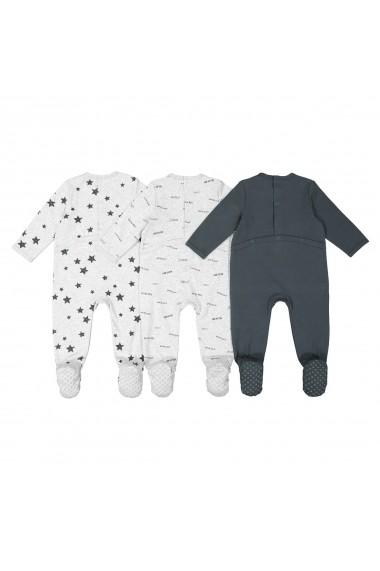 Set 3 pijamale La Redoute Collections GGD429 gri