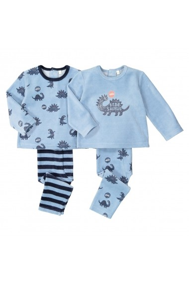 Set 2 pijamale La Redoute Collections GGD441 albastru