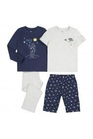 Set 2 pijamale La Redoute Collections GGE148 gri - els