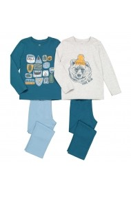 Set 2 pijamale La Redoute Collections GGE150 albastru