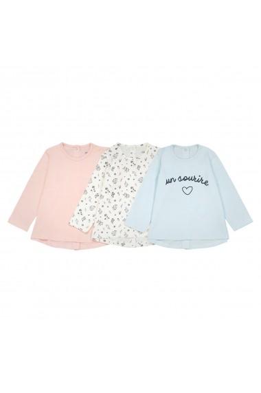Set 3 bluze La Redoute Collections GET666 ecru - els