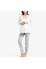 Pijama pentru gravide La Redoute Collections GGK880 alb