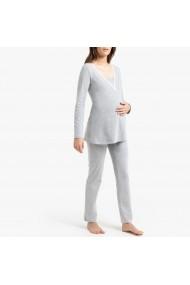 Pijama pentru gravide La Redoute Collections GGK892 gri