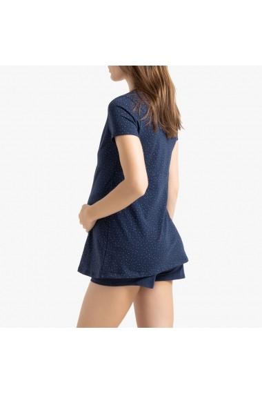 Pijama pentru gravide La Redoute Collections GGK901 bleumarin