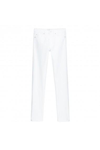 Jeansi drepti La Redoute Collections GGQ263 alb