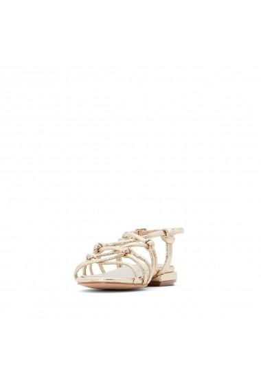 Sandale plate La Redoute Collections GFU892 auriu - els