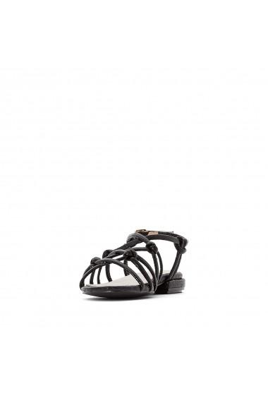 Sandale plate La Redoute Collections GFU892 negru - els