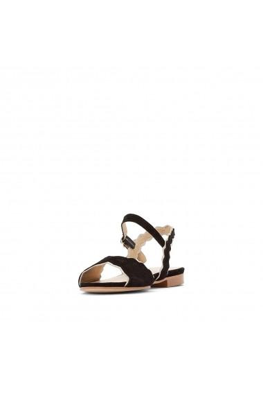Sandale plate La Redoute Collections GFV046 negru