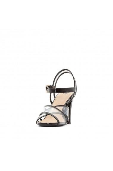 Sandale cu toc La Redoute Collections GGA507 negru - els