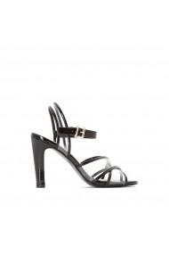 Sandale cu toc La Redoute Collections GGA507 negru