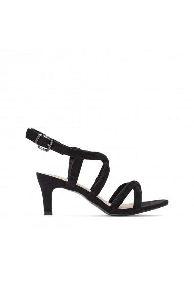 Sandale cu toc La Redoute Collections GGA809 negru