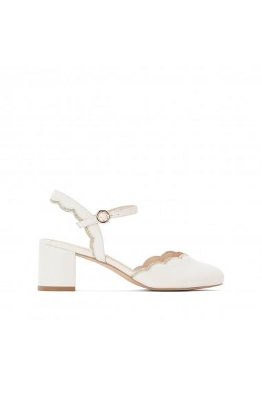 Pantofi cu toc La Redoute Collections GGF370 alb