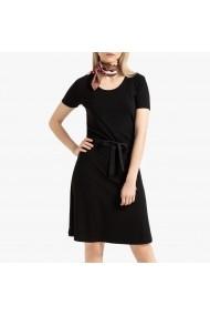 Rochie scurta neagra cu cordon in talie La Redoute Collections GGO851