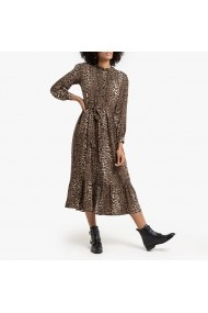 Rochie lunga de zi La Redoute Collections GGO800 animal print