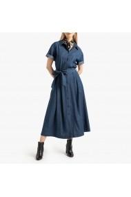 Rochie lunga bleumarin cu cordon in talie La Redoute Collections GGO818