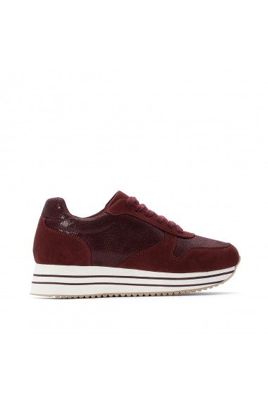 Pantofi sport casual La Redoute Collections GGQ401 bordo