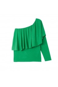 Bluza verde asimetrica cu maneca lunga La Redoute Collections GFJ022 - els