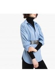 Camasa albastra in dungi cu maneca lunga La Redoute Collections GGO032