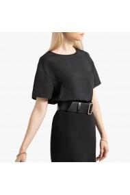 Bluza neagra cu maneci scurte La Redoute Collections GGO046