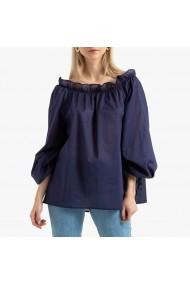 Bluza bleumarin cu maneci 3/4 si guler tip barcuta La Redoute Collections GGO985