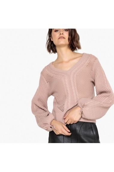 Pulover La Redoute Collections GFA874 roz - els