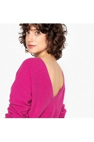 Pulover din casmir La Redoute Collections GFA528 roz