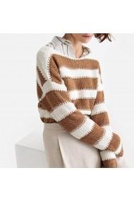 Пуловер  La Redoute Collections GFT114-2393 кафяво