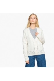 Cardigan La Redoute Collections GFH438 alb