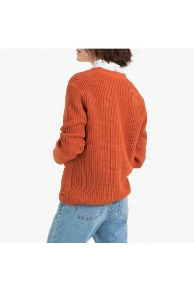 Cardigan La Redoute Collections GGM266 portocaliu