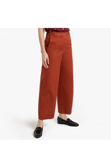 Pantaloni largi La Redoute Collections GGM079 caramiziu - els
