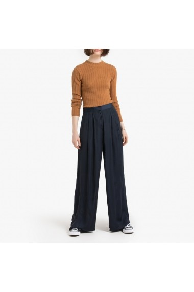 Pantaloni largi La Redoute Collections GGP623 bleumarin