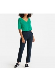 Pantaloni drepti La Redoute Collections GFR793 bleumarin