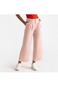 Pantaloni trei sferturi La Redoute Collections GFR799 roz