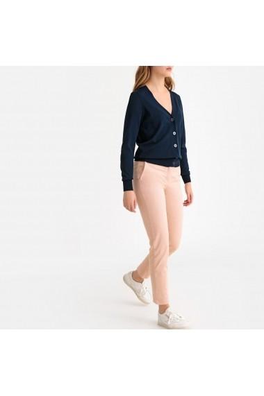 Pantaloni drepti La Redoute Collections GFS136 roz