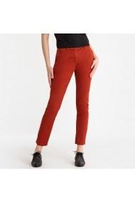 Pantaloni drepti La Redoute Collections GFS136 maro