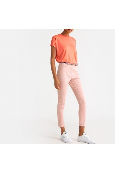 Pantaloni drepti La Redoute Collections GFS139 roz