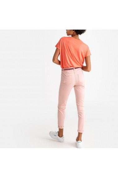 Pantaloni drepti La Redoute Collections GFS139 roz - els