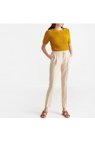 Pantaloni drepti La Redoute Collections GFU766 bej
