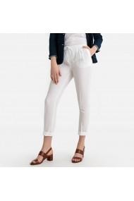 Pantaloni drepti La Redoute Collections GFU766 alb